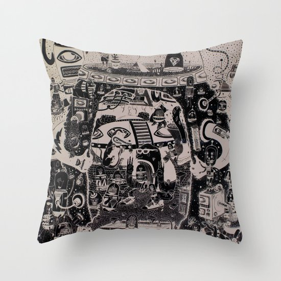 contacto real Throw Pillow