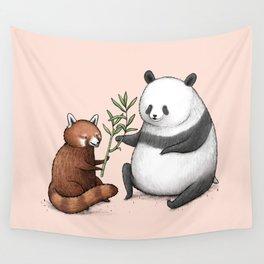 Panda Friends Wall Tapestry