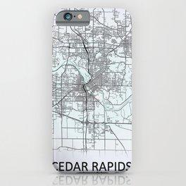 Cedar Rapids, IA, USA, City Map iPhone Case