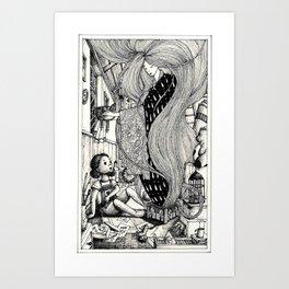 Old attic spirit Art Print