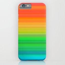 Bright Rainbow Stripes iPhone Case