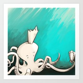 Octoking Art Print