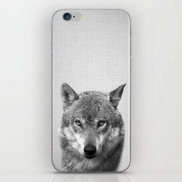 Wolf - Black & White iPhone Skin