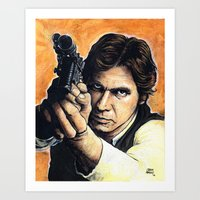 han solo Art Prints featuring HAN SOLO by CHRIS MASON