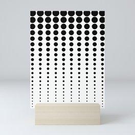 Reduced Black Polka Dots on Solid White Background Minimal Graphic Design Mini Art Print