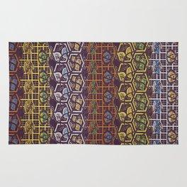 Vintage Japanese Silk Textile Pattern Rug