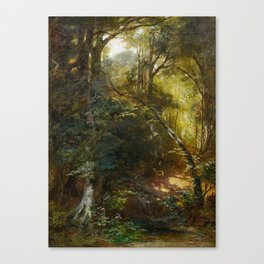 EBERT, CARL 1821 Stuttgart - 1885   Inside a Forest. Canvas Print