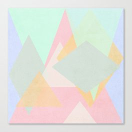 spring pastel abstract pattern design Canvas Print