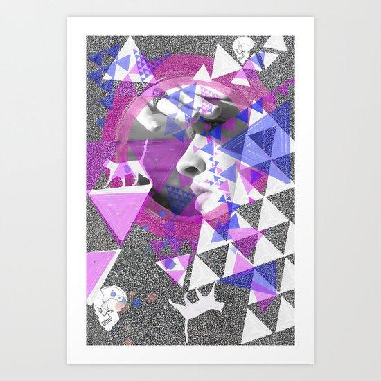 A triangle mirage Art Print