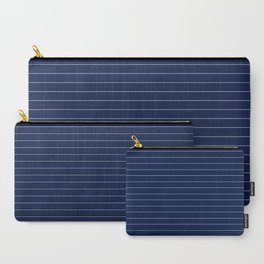 Navy Blue Pinstripe Lines Carry-All Pouch