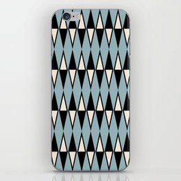 Mid Century Modern Diamond Pattern Black and Blue 233 iPhone Skin