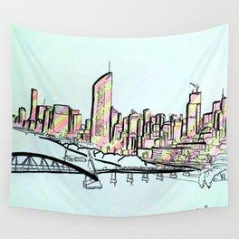 BRISBANE POSTCARD SERIES 012 Wall Tapestry