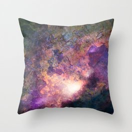 Rebirth | Galaxy Abstract Painting Throw Pillow