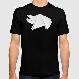 White origami pig T-shirt