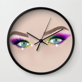 Rainbow Make-up Wall Clock