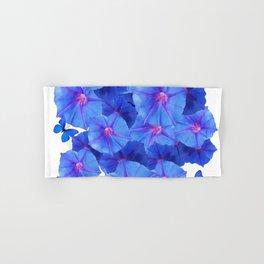 BLUE MORNING GLORIES & BLUE BUTTERFLY GARDEN Hand & Bath Towel