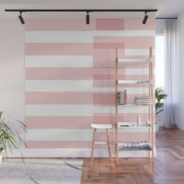 Big Stripes in Pink Wall Mural