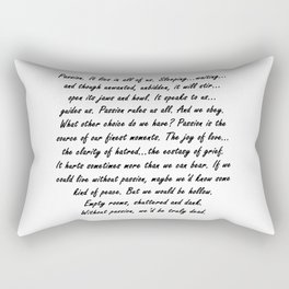 Buffy Passion Quote Rectangular Pillow