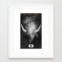 taurus Framed Art Prints featuring Taurus by Simone Colliva