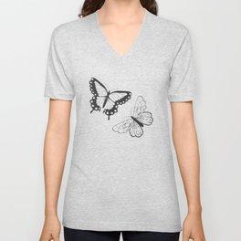 Butterfly pattern 011 Unisex V-Neck