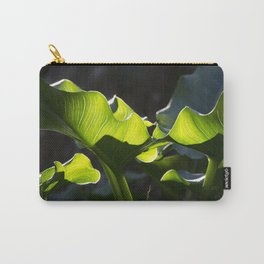 Green Contrast - Light and Dark Carry-All Pouch