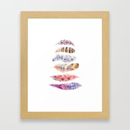 Falling Feather Framed Art Print