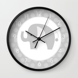 Mod Gray Elephant Wall Clock