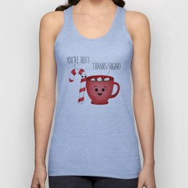 You're Hot! Thanks Sugar! Candy Cane & Hot Chocolate Couple Unisex Tank Top