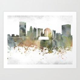 Toledo Greenish Skyline Art Print