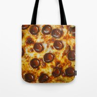 cheese Tote Bags featuring Cheese  by Chelsea Victoria