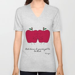 Kind Apples (or An Ode To My Imaginary Boyfriend) Unisex V-Neck