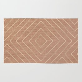 Rose Gold Diamons Rug
