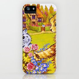 Family Of Cats In The Garden - Digital Remastered Edition iPhone Case
