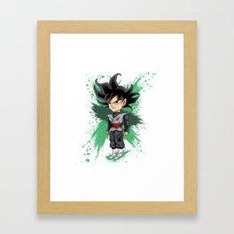 Goku Black (Splatter) Framed Art Print