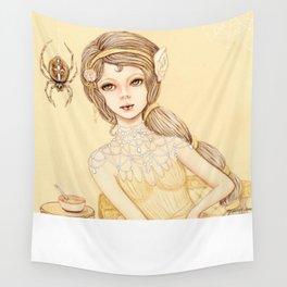Little Miss Muffett Wall Tapestry