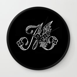 M Monogram Wall Clock