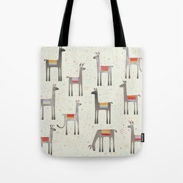 Llamas in the Meadow Tote Bag