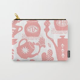 Morning ritual textured print pattern Carry-All Pouch