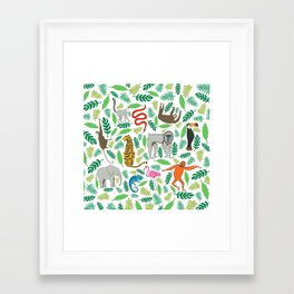 Animals in the Jungle Framed Art Print