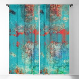 Aztec Turquoise Stone Abstract Texture Design Art Blackout Curtain