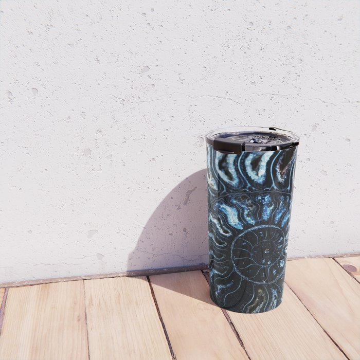 Blue Ammonite Travel Mug