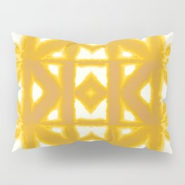 Yellow Pima Shibori Pillow Sham