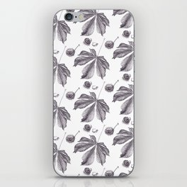 Floral pattern horse-chestnut iPhone Skin