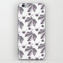Floral pattern horse-chestnut iPhone Skin