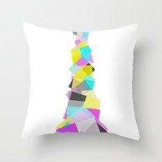 CMYKolumn Throw Pillow