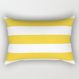Nachos - solid color - white stripes pattern Rectangular Pillow