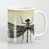 dragonfly Mugs featuring DRAGONFLY  by Pia Schneider