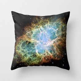 Crab Nebula Space Decor Throw Pillow