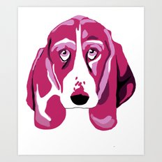 Hound Dog Art Print