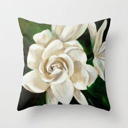 Gardenia II Throw Pillow